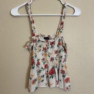 white floral american eagle babydoll tank top